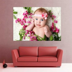 Kids Baby Children Picture serie 3 Block Giant Wall Art Poster (P-2596)