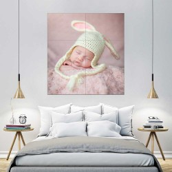 Kids Baby Children Picture serie 4 Block Giant Wall Art Poster (P-2597)