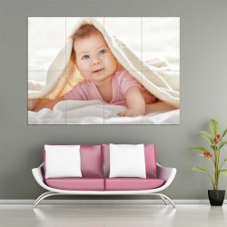 Kids Baby Children Picture serie 5  Block Giant Wall Art Poster (P-2598)