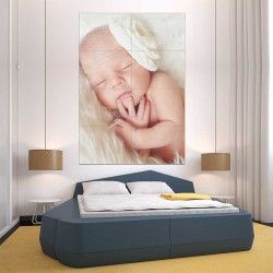 Kids Baby Children Picture serie 6 Block Giant Wall Art Poster (P-2599)