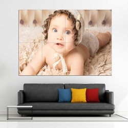 Kids Baby Children Picture serie 9  Block Giant Wall Art Poster (P-2602)