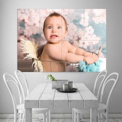 Kids Baby Children Picture serie 10  Block Giant Wall Art Poster (P-2603)
