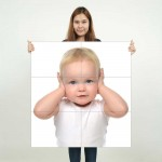 Kids Baby Children Picture serie 12 Block Giant Wall Art Poster