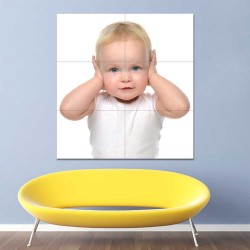Kids Baby Children Picture serie 12 Block Giant Wall Art Poster (P-2605)