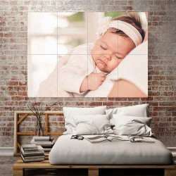 Kids Baby Children Picture serie 13  Block Giant Wall Art Poster (P-2606)
