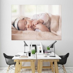 Kids Baby Children Picture serie 14  Block Giant Wall Art Poster (P-2607)