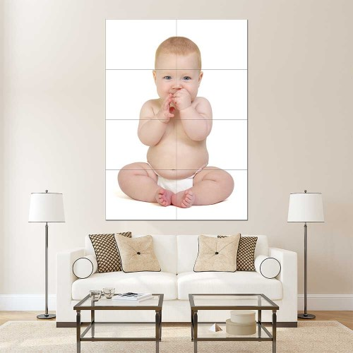 Kids Baby Children Picture serie 15 Block Giant Wall Art Poster