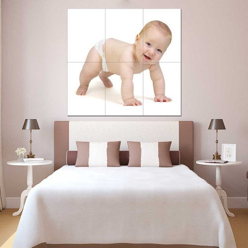 Kids Baby Children Picture serie 16 Block Giant Wall Art Poster