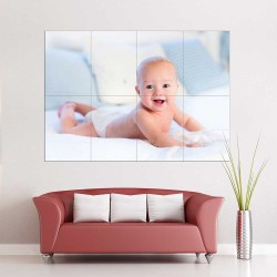 Kids Baby Children Picture serie 18  Block Giant Wall Art Poster (P-2611)
