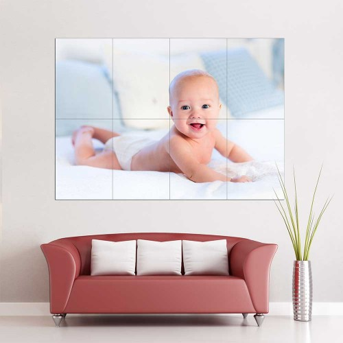 Kids Baby Children Picture serie 18 Block Giant Wall Art Poster