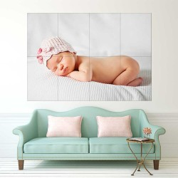 Kids Baby Children Picture serie 21  Block Giant Wall Art Poster (P-2614)