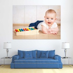 Kids Baby Children Picture serie 22  Block Giant Wall Art Poster (P-2615)