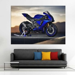 Yamaha YZF R1 motorcycle  Block Giant Wall Art Poster (P-2616)