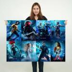 Aquaman Movie Block Giant Wall Art Poster