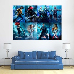 Aquaman Movie  Block Giant Wall Art Poster (P-2617)