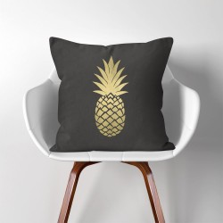 Pineapple  Linen Cotton throw Pillow Cover (PW-0001)
