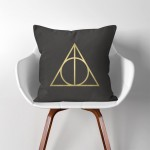 Harry Potter Deathly Hallows Linen Cotton throw Pillow Cover