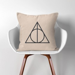 Harry Potter Deathly Hallows Linen Cotton throw Pillow Cover (PW-0002)