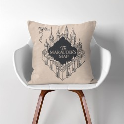 The marauder's Map Harry Potter  Linen Cotton throw Pillow Cover (PW-0006)