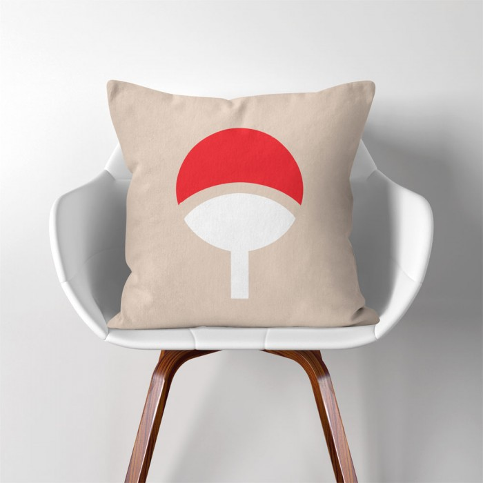 Astounding Naruto Uchiha Clan Logo Linen Cotton Throw Pillow Cover Pw 0010 Machost Co Dining Chair Design Ideas Machostcouk