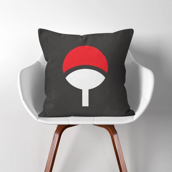 Prime Naruto Uchiha Clan Logo Linen Cotton Throw Pillow Cover Pw 0010 Machost Co Dining Chair Design Ideas Machostcouk