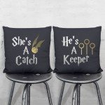 Harry Potter She's A Catch-He's A Keepe Pair Pillowcases Set