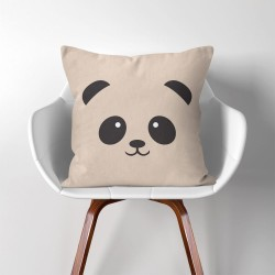 Panda Face  Linen Cotton throw Pillow Cover (PW-0057)