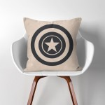 Captain America Super Hero  Linen Cotton throw Pillow Cover