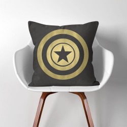 Captain America Super Hero  Linen Cotton throw Pillow Cover (PW-0063)