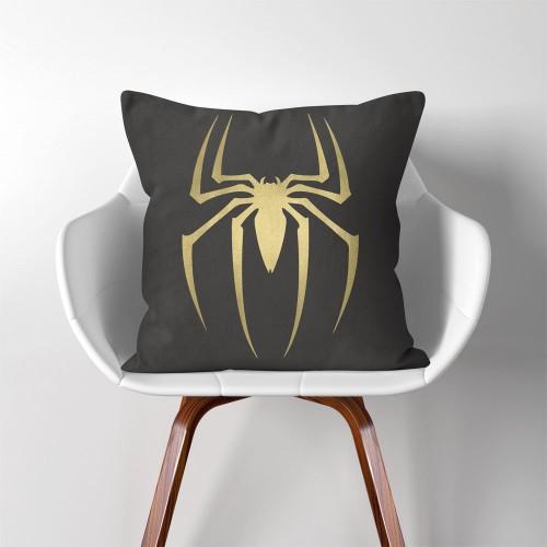 Spiderman Logo Super Hero  Linen Cotton throw Pillow Cover