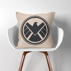 Agents of S.H.I.E.L.D. Symbol  Linen Cotton throw Pillow Cover (PW-0066)