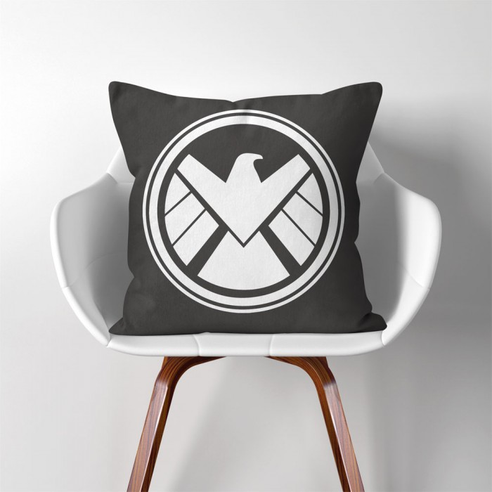 Agents Of Shield Symbol Linen Cotton Throw Pillow Cover