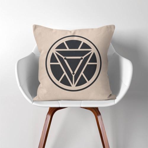 Iron Man Arc Reactor  Linen Cotton throw Pillow Cover