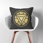 Iron Man Arc Reactor  Linen Cotton throw Pillow Cover