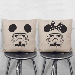 Disney Star Wars Micky Minie Maus Stormtrooper Kissenbezüge Paare (PW-0075)