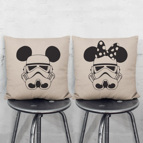 Disney Star Wars Mickey Minnie Mouse Stormtrooper Pair Pillowcases Set