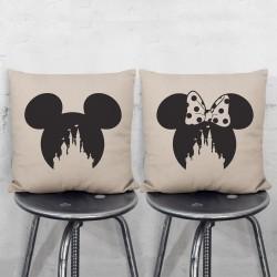 Disney Schloss Micky Minie Maus Kissenbezüge Paare (PW-0077)