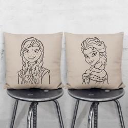 Die Eiskönigin Anna und Elsa Kissenbezüge Paare (PW-0079)