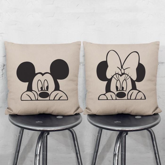 Disney Mickey Minnie Mouse Pair Pillowcases Set Interesting Minnie Mouse Decorative Pillow