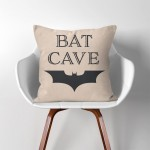Bat Cave Batman  Linen Cotton throw Pillow Cover