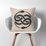 Auryn The Neverending Story  Linen Cotton throw Pillow Cover