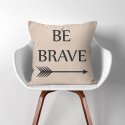 Be Brave  Linen Cotton throw Pillow Cover (PW-0134)