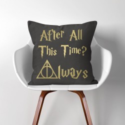 Always After All This Time? Harry Potter  Linen Cotton throw Pillow Cover (PW-0146)