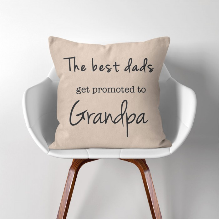 The Best Dads Get Promoted Grandpa Vatertag Geschenke Kissenbezuge