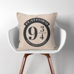 Platform 9 3/4  Harry Potter  Linen Cotton throw Pillow Cover