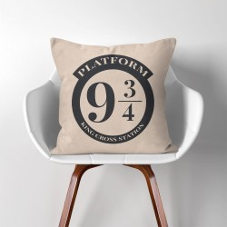 Platform 9 3/4  Harry Potter  Linen Cotton throw Pillow Cover (PW-0155)