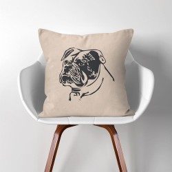 Bulldog Hund Kissenbezüge & Kissenhüllen (PW-0158)