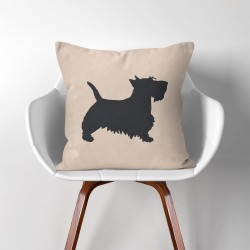 Scottish Terrier Dog  Linen Cotton throw Pillow Cover (PW-0162)