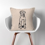 Labrador Retriever Dog  Linen Cotton throw Pillow Cover