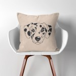 Dalmatian Dog  Linen Cotton throw Pillow Cover